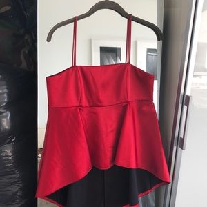Zara red size small top